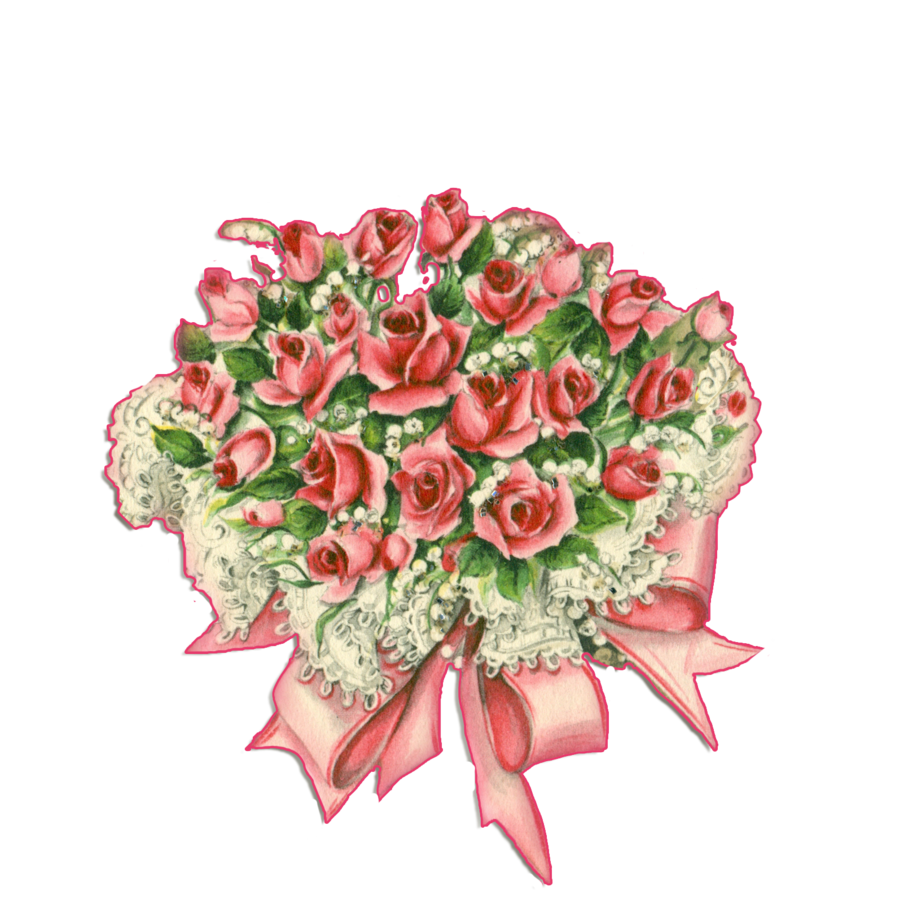 Rose png by jinifur. Thanks clipart bouquet