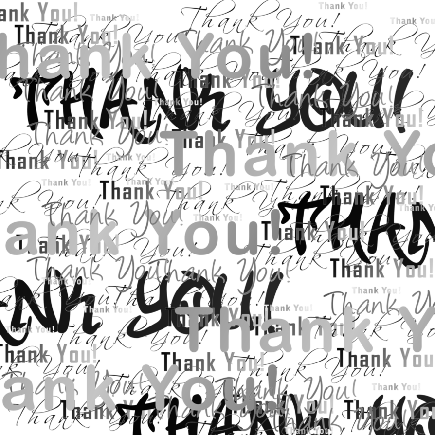 Thanks clipart calligraphy. Many and thank yous