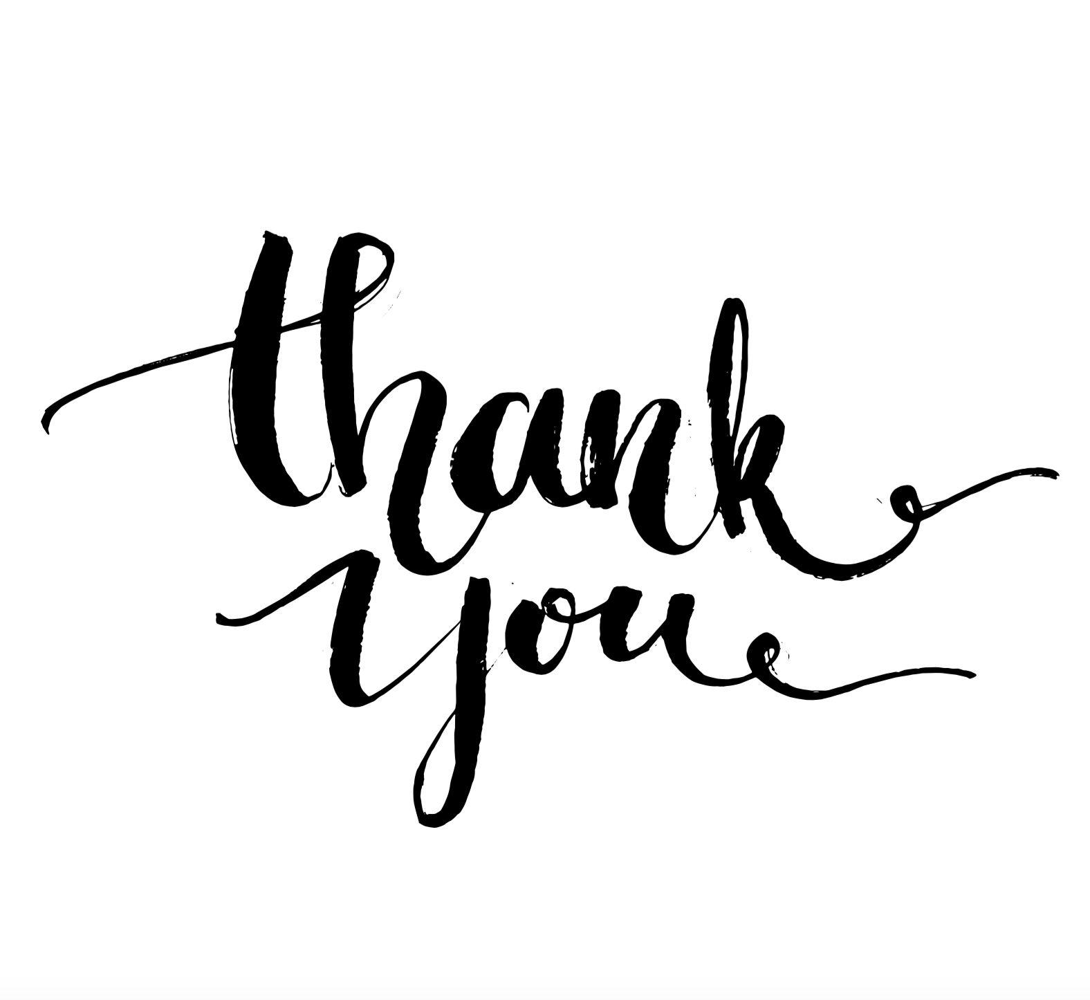 Typography poster thank you. Thanks clipart calligraphy