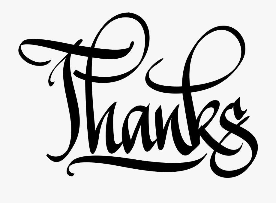 Thanks clipart calligraphy. Digital big image png
