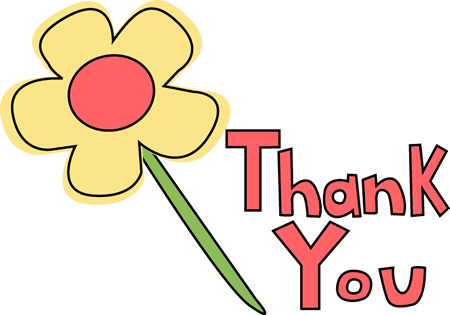 Thanks clipart flower. Thank you image clip