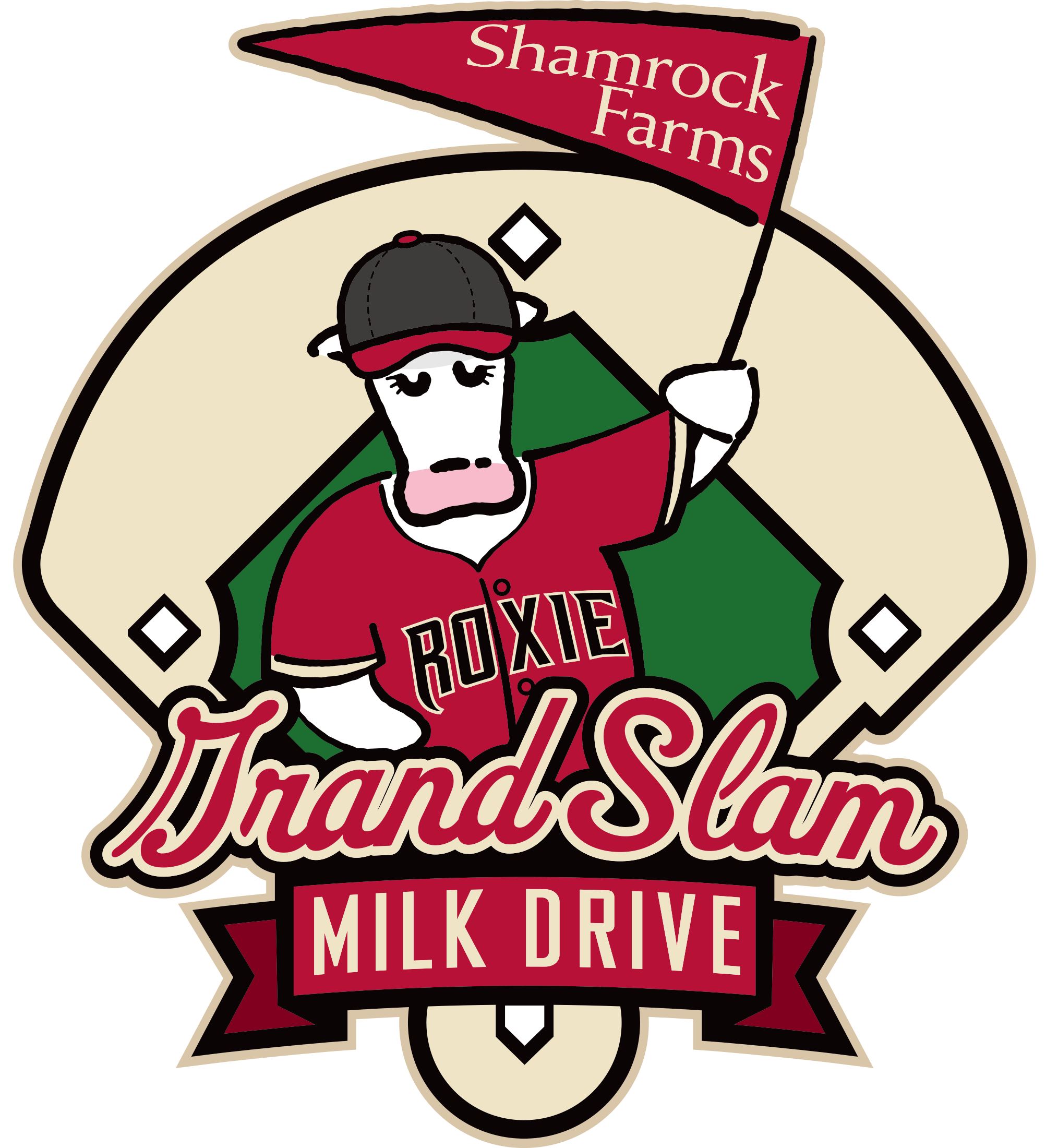 Shamrock diamondbacks grand slam. Thanks clipart food drive