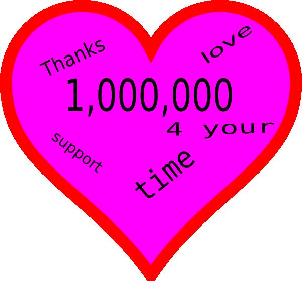 A million clip art. Thanks clipart pink