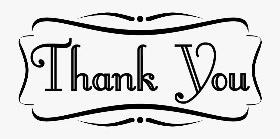 Thanks clipart script. Ornamental border and thank