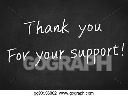 Stock illustration thank you. Thanks clipart support