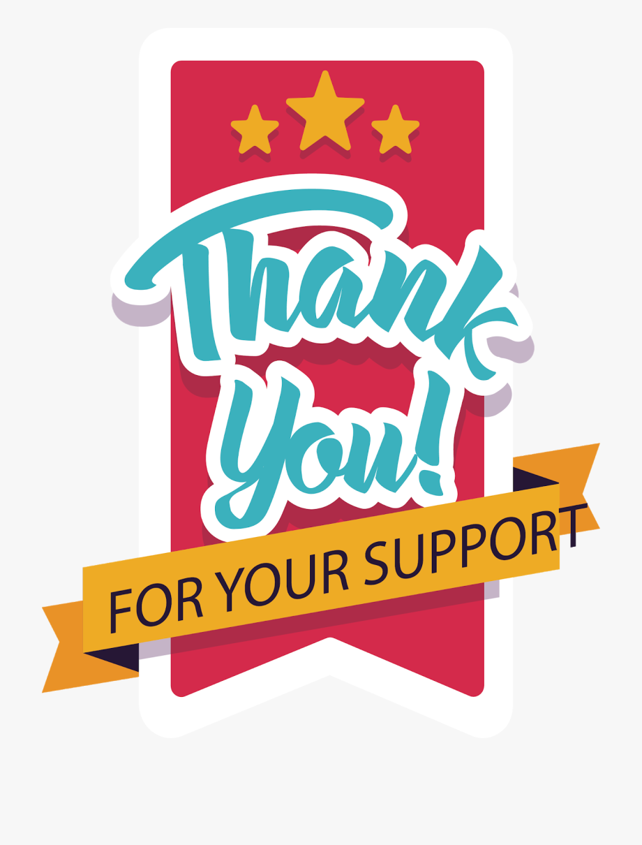 Thanks clipart support. Thank you card for