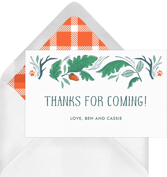 Camping weekend notes greenvelope. Thanks clipart thank you card
