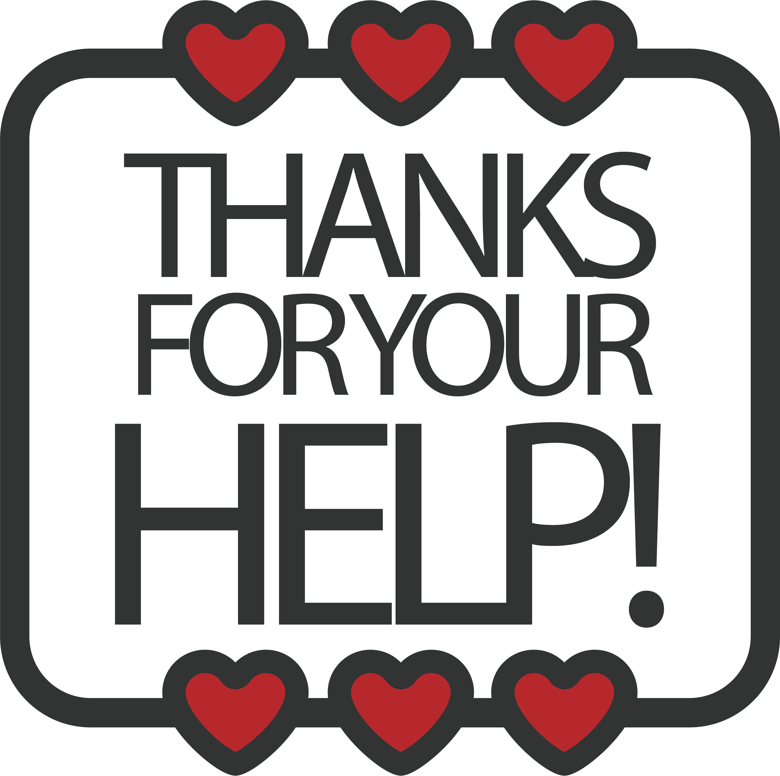 Thanks clipart thank you card. Red clip art love