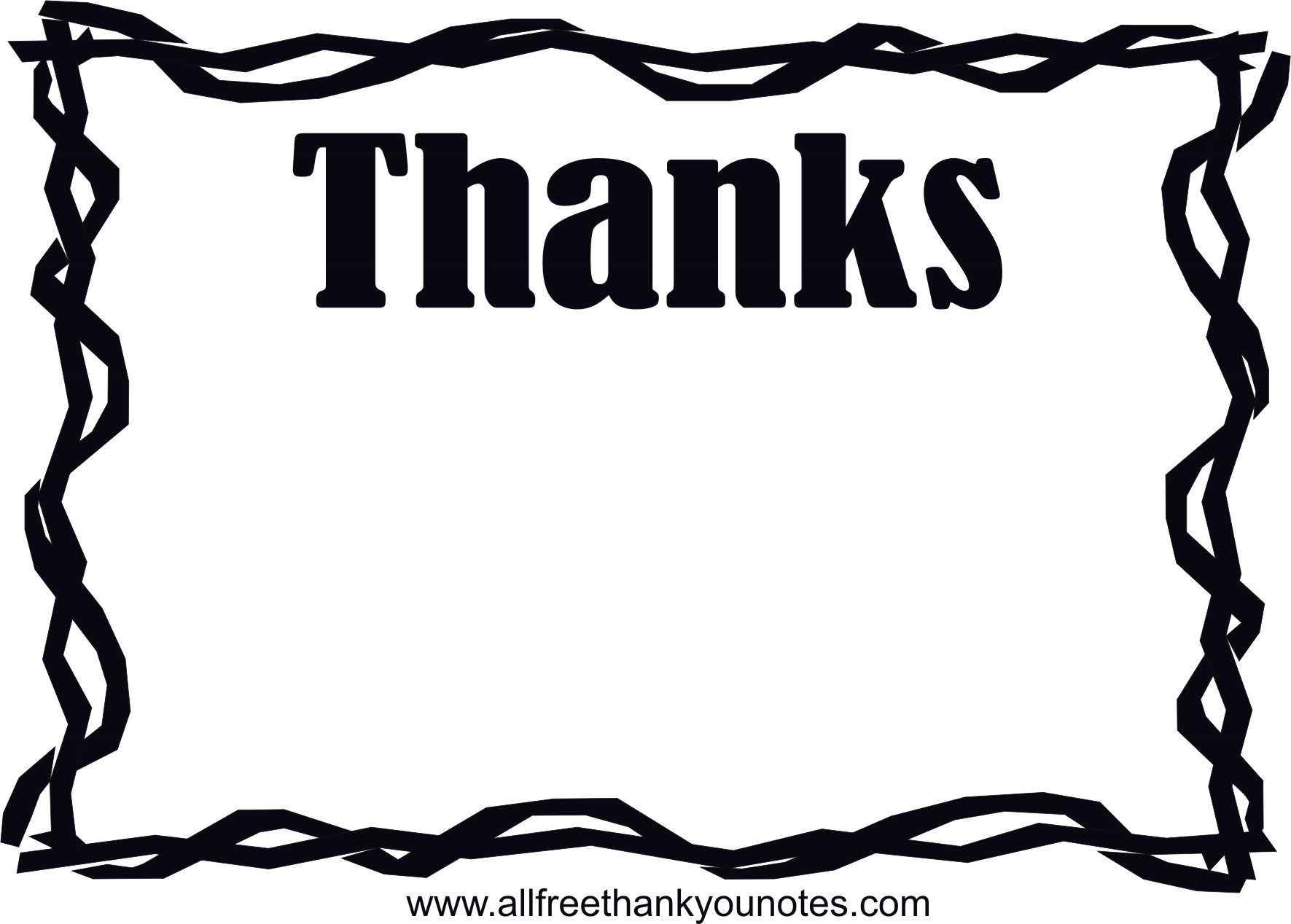 Black and white twig. Thanks clipart thank you card