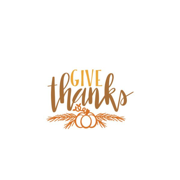 Thanks clipart thankful. Give thanksgiving phrase svg