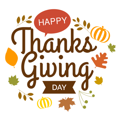 Thanksgiving png images. Day logo transparent svg