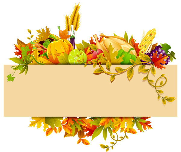 Decor clipart gallery yopriceville. Thanksgiving border png