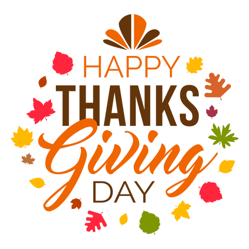 Thanksgiving png images. Happy day logo transparent
