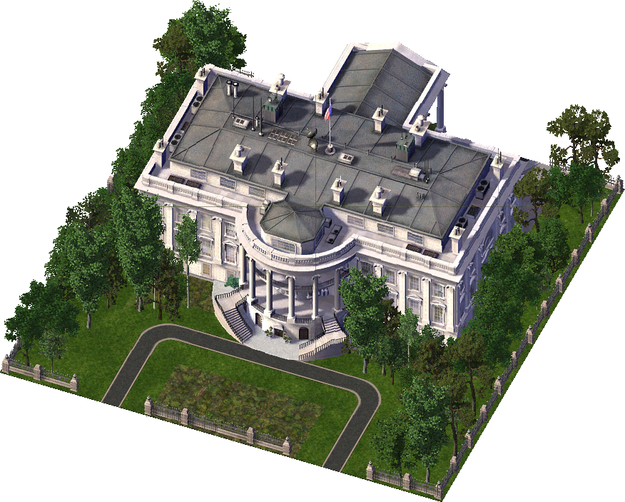Image simcity encyclopaedia imagewhite. The white house png
