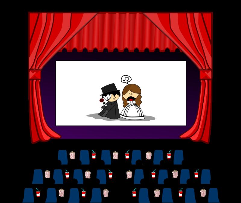 Theatre clipart. Movie