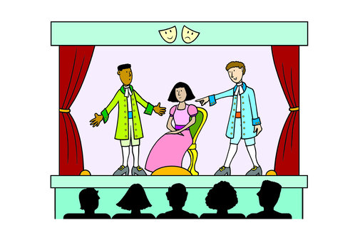 collection of kids. Actor clipart stage clipart