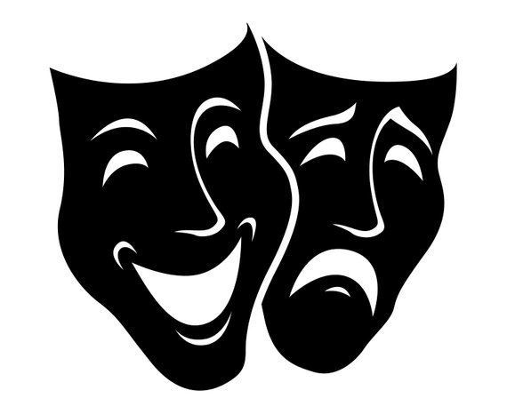 Theater masks comedy tragedy. Mask clipart drama
