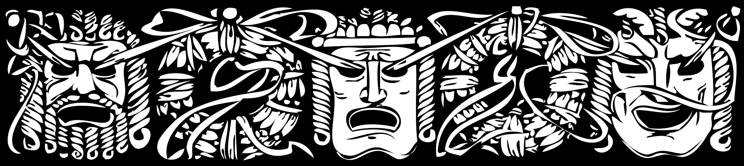 Mask big image png. Theatre clipart border