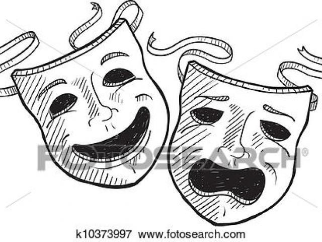 Theatre clipart faced. Free download clip art