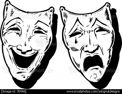 Tattoo skulls mask . Theatre clipart faced