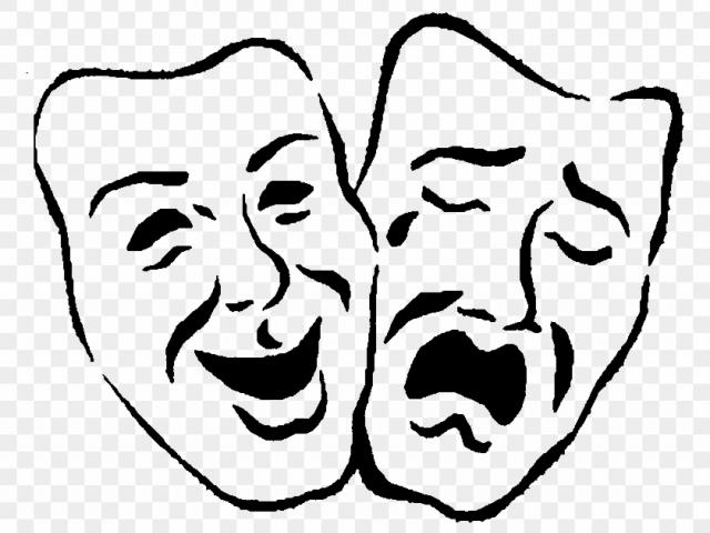Free download clip art. Theatre clipart faced