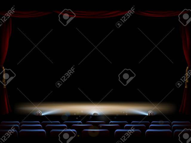 X free clip art. Theatre clipart footlights