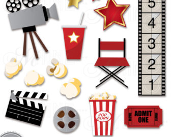 Theatre clipart hollywood theater. Etsy