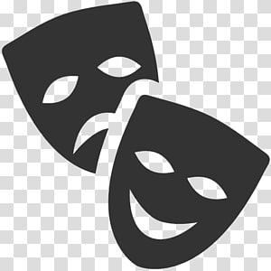 Drama theater transparent background. Theatre clipart joker mask