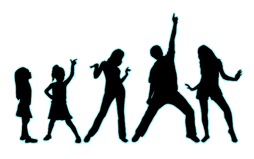 Children singing at getdrawings. Theatre clipart silhouette