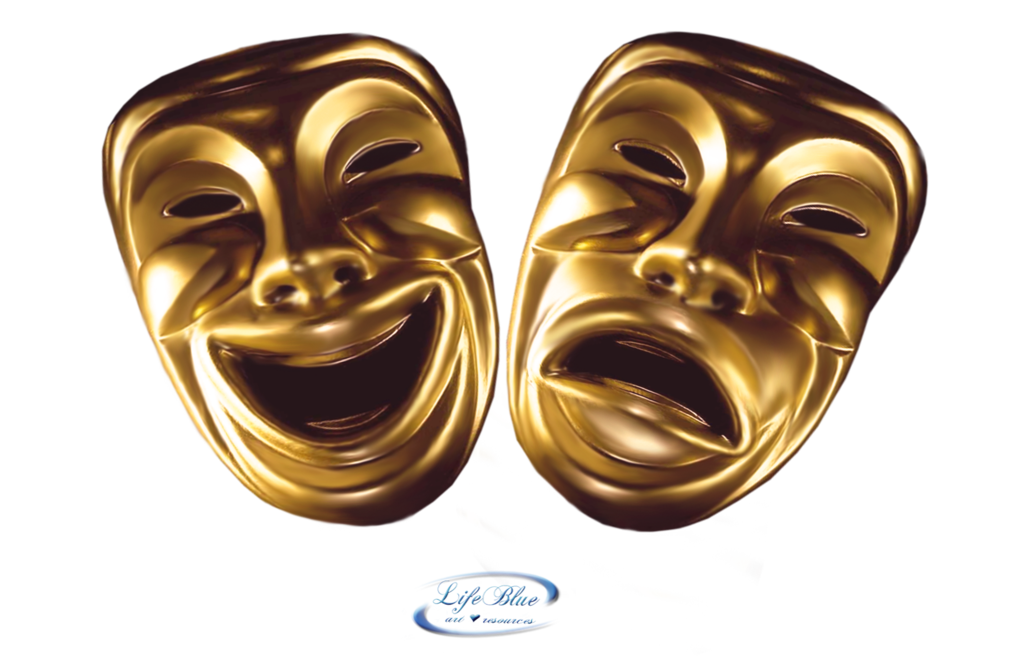 Free comedy and tragedy. Theatre clipart speech drama