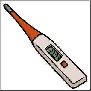 Medicine medical technology digital. Thermometer clip art