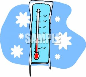 Frost on a clipart. Thermometer clip art