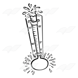 Abeka hot. Thermometer clip art black and white