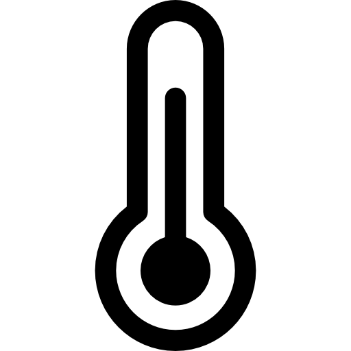 Fever mercury tool icon. Thermometer clip art black and white