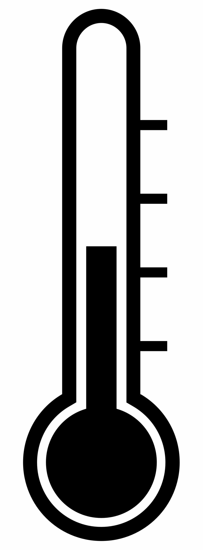 Clipart thermometer plain. Free clip art black