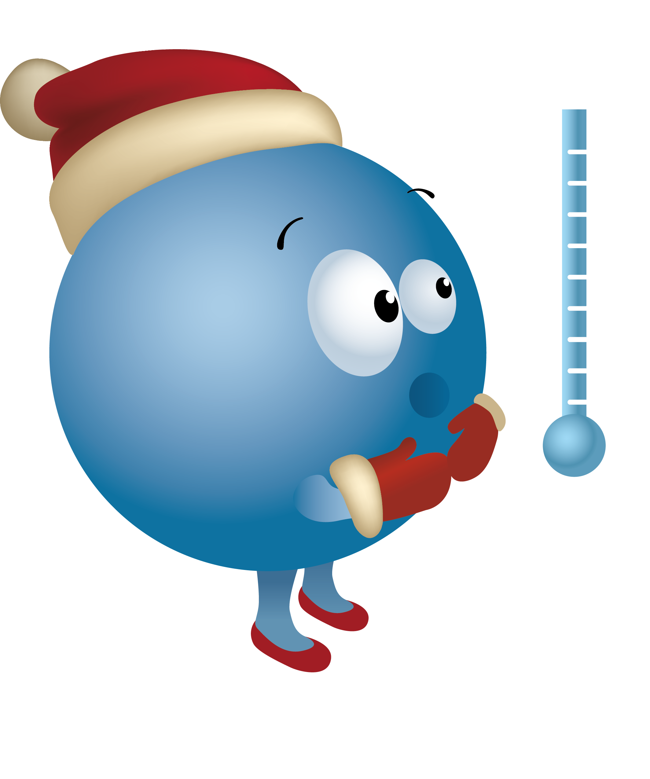 Thermometer clip art cartoon. Cold planet transprent png