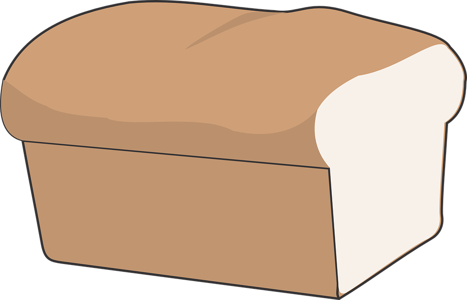 White clipart bread. No background clipartxtras transparent