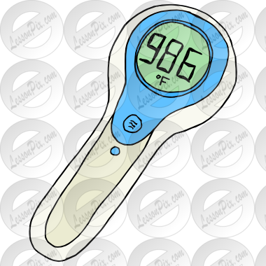 Thermometer clip art customizable. Picture for classroom therapy