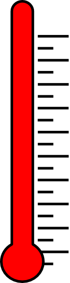 Full at clker com. Thermometer clip art fundraising