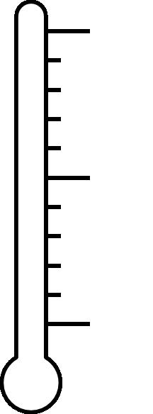 Thermometer clip art goal setting. Blank clipart panda free