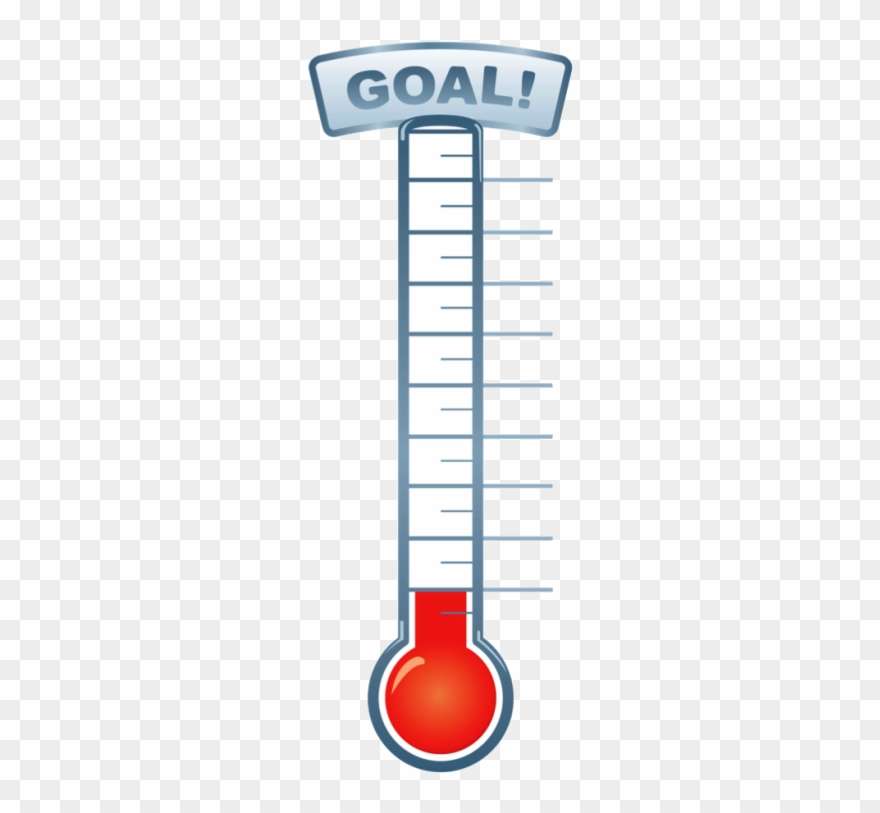Pin clip art goal. Fundraiser clipart fundraising thermometer