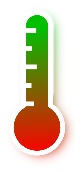 Red to green gradient. Thermometer clip art science