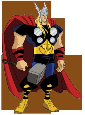 Thor clipart. Cartoon transparent background