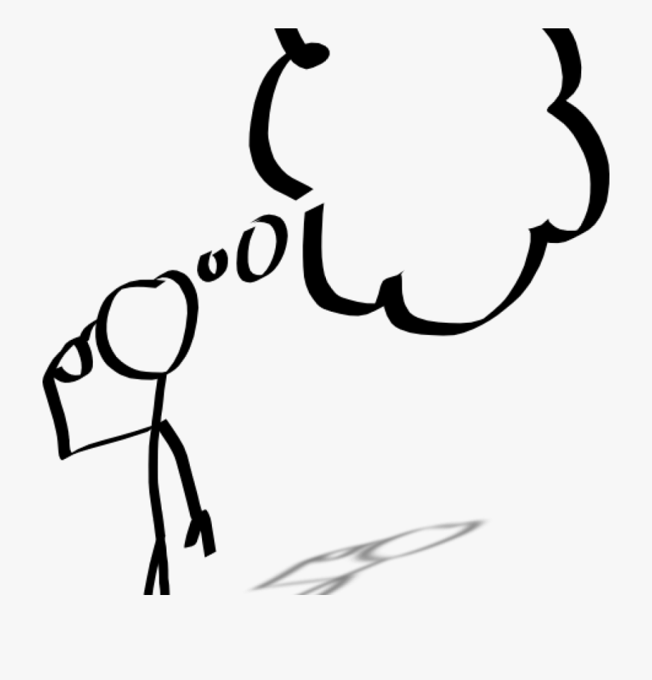 Clipart man thinking. Person thought bubble