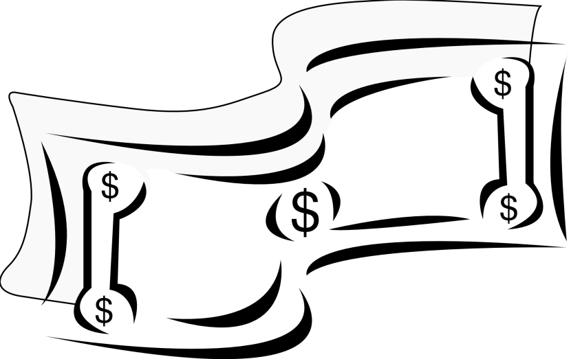 Money clipartion com sign. Thoughts clipart black and white
