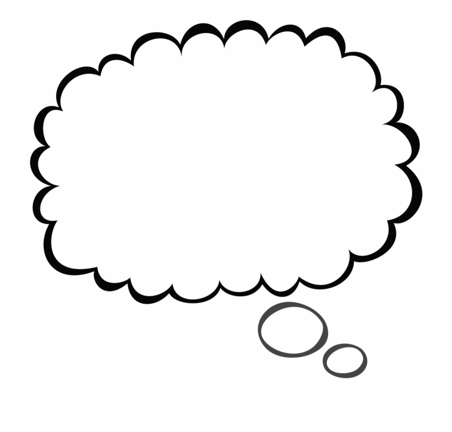 Thoughts clipart bubble text. Transparent background thinking