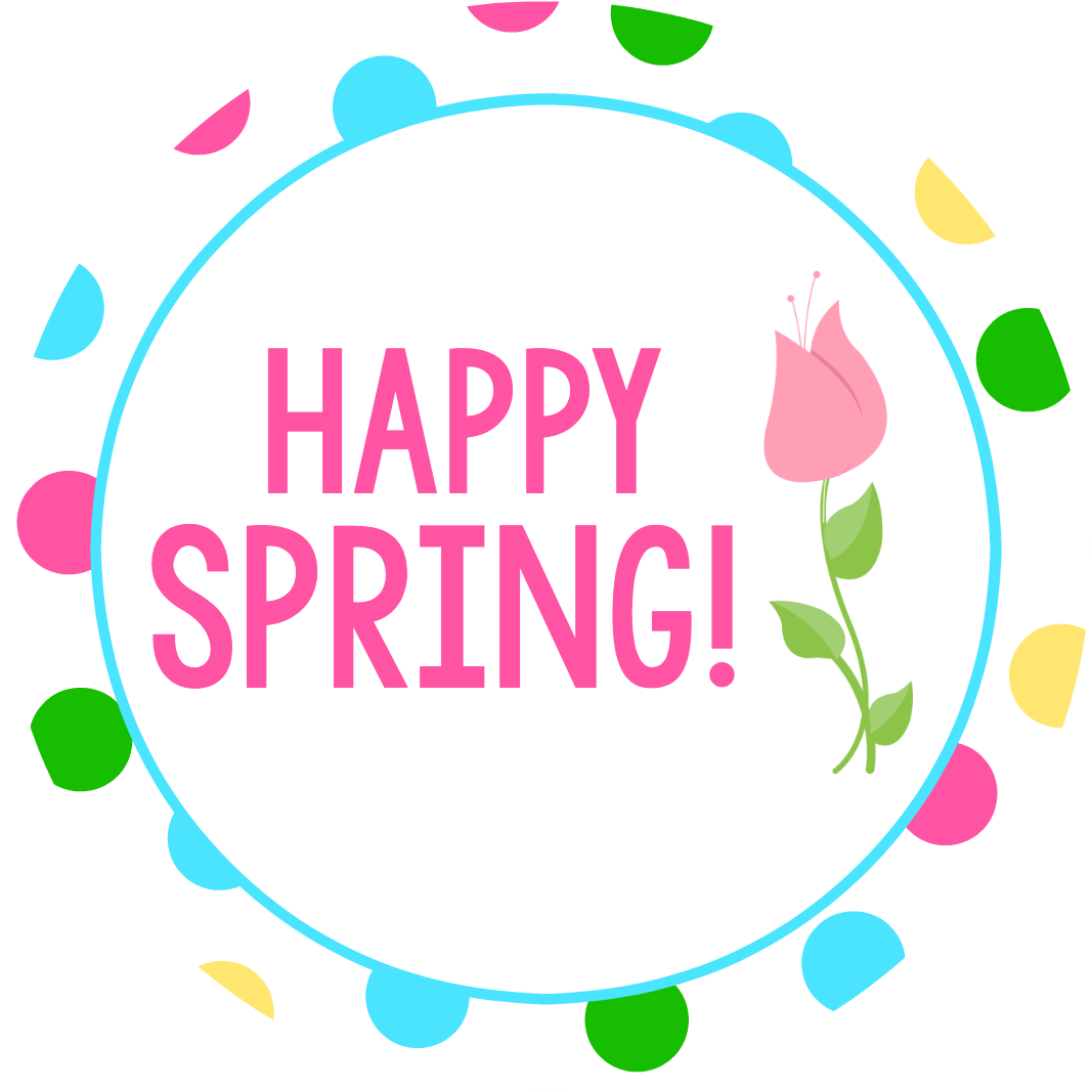 Happy spring easter tags. Thoughts clipart full