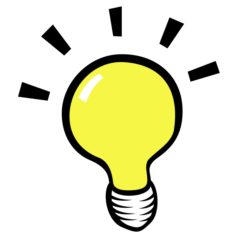 Students go to camp. Thoughts clipart light blub