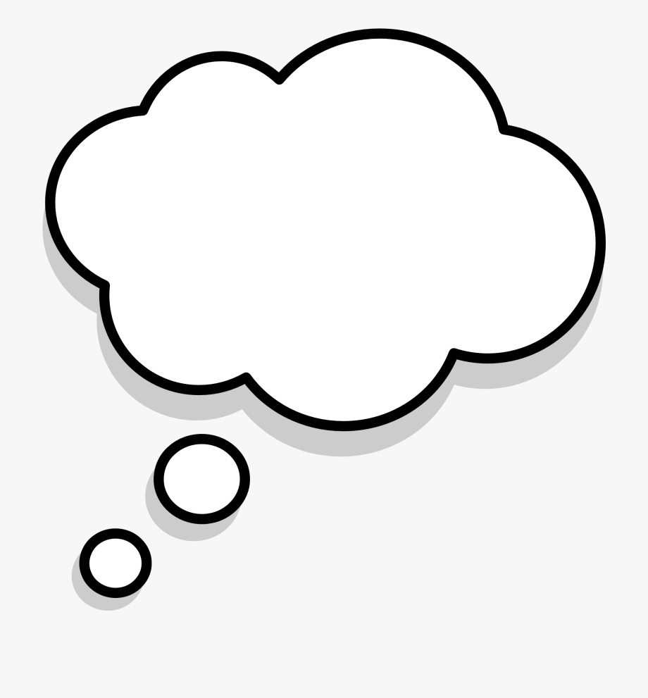 Download thought png transparent. Thoughts clipart speaking bubble