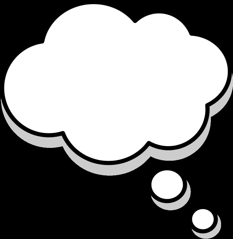 Thoughts clipart thought bubble. Cartoon bubbles clip art